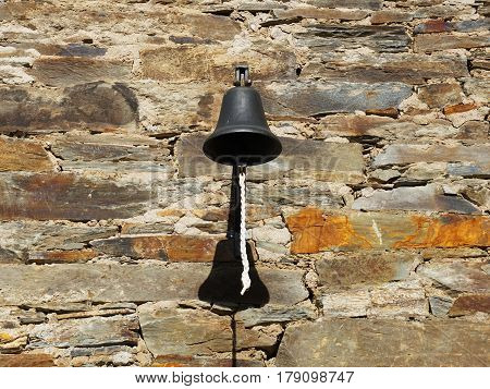 Welcome Old fashioned bell as doorbell it make of metal and old style.