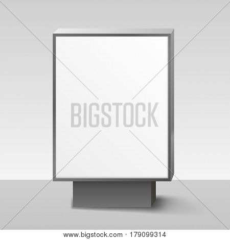 Blank Lightbox, or Signboard on white background. Vector