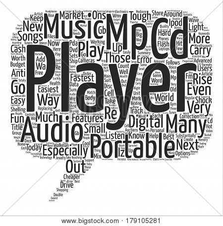 The Rise Of The Mp Player Word Cloud Concept Text Background