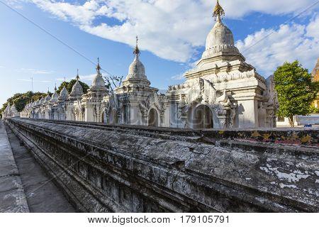 Kuthodaw Paya , famous mandalay pagoda in myanmar ( Burma )
