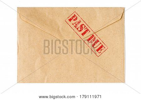 Past Due old Envelope high quality and high resolution studio shoot