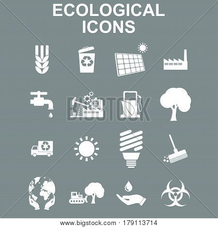 Ecology icons. Vector concept illustration for design.