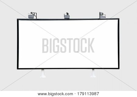 Billboard black for outdoor advertising poster. Trade show booth. isolated on white background