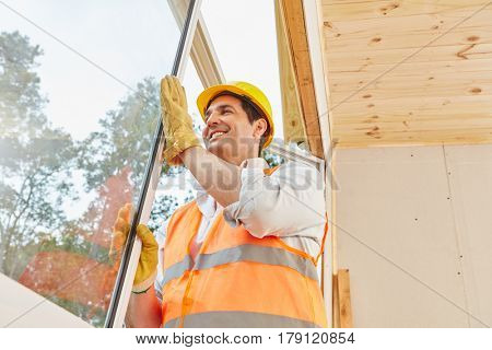Window construction work in woodhouse