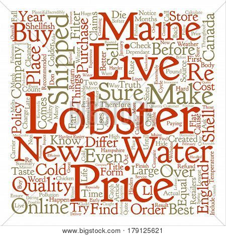 Things You Must Know Before You Buy Live Maine Lobsters text background word cloud concept