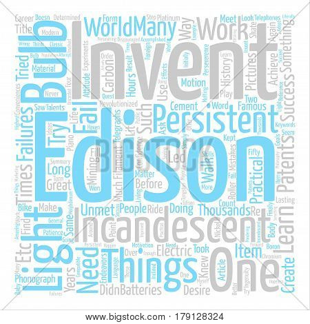 Thousands of Failures but Thousands of Patents text background word cloud concept