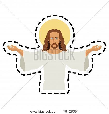 jesus christ icon image vector illustration design