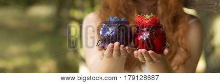 Jars With Seasonal Fruits