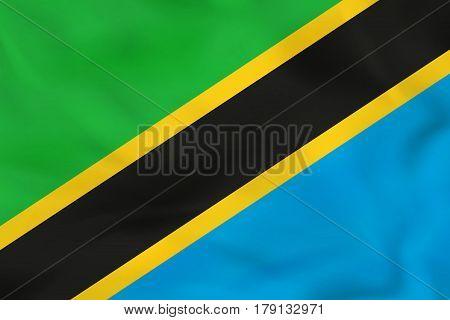 Tanzania Waving Flag. Tanzania National Flag Background Texture.