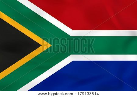 South Africa Waving Flag. South Africa National Flag Background Texture.