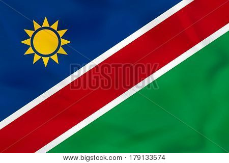 Namibia Waving Flag. Namibia National Flag Background Texture.
