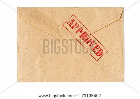 Approved on old Envelope high quality and high resolution studio shoot
