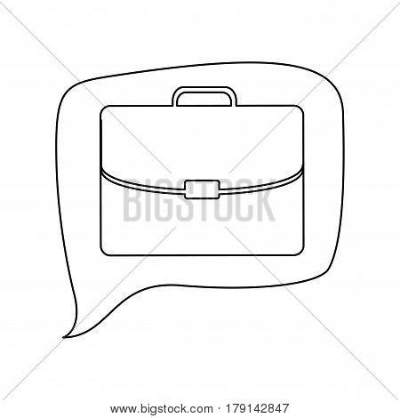 line briefcase icon business, vector illustration design