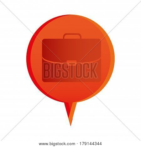 color briefcase icon business, vector illustration design