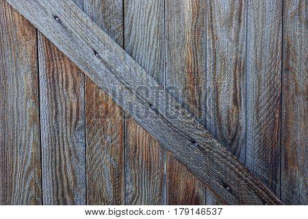 Gray wood texture of an old door