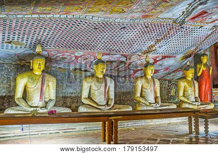 The Statues Of Meditating Lord Buddha