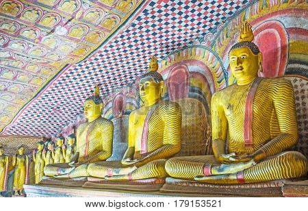 The Statues Of Lord Buddha In Dambulla