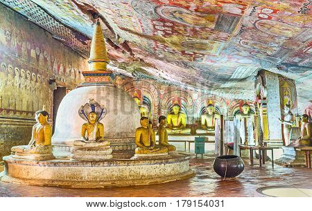 The Cave Of The Great Kings In Dambulla