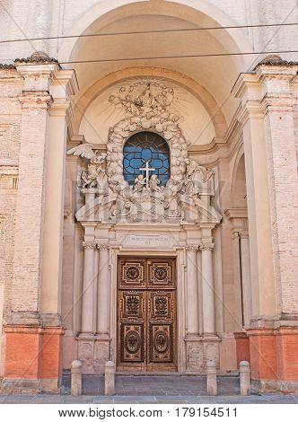 The Entrance To Basilica Del Paradiso In Parma