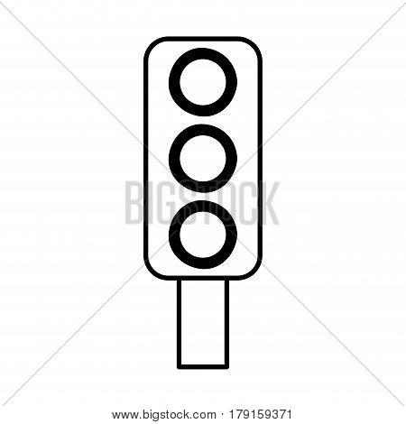 traffic light semaphore icon vector illustration design