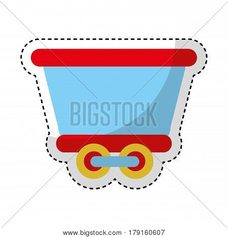 train vehicle isolated icon vector illustration design