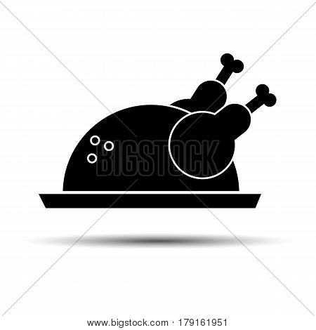 cooked chicken food dinner meat roast meal vector turkey roasted plate tasty