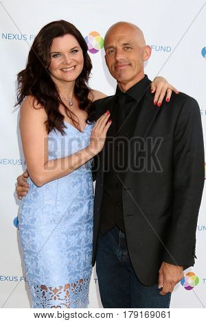 LOS ANGELES - MAR 25:  Heather Tom, James Achor at the Night of Cocktail and Virtual Reality benefiting The Nexus Fund at Private Residence on March 25, 2017 in Glendale, CA