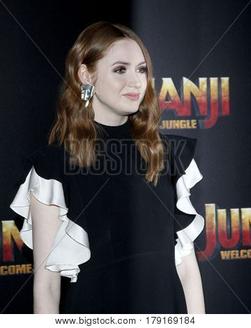LAS VEGAS - MAR 27:  Karen Gillan at the Sony CinemaCon Photocall at the Caesars Palace on March 27, 2017 in Las Vegas, NV
