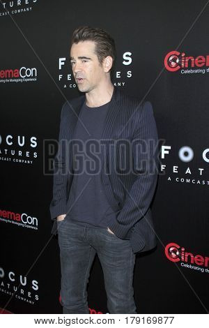 LAS VEGAS - MAR 29:  Colin Farrell at the Focus Features CinemaCon Photocall at the Caesars Palace on March 29, 2017 in Las Vegas, NV