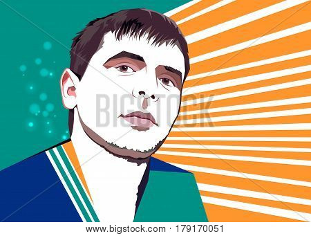 vector young guy male attractive illustration hipster