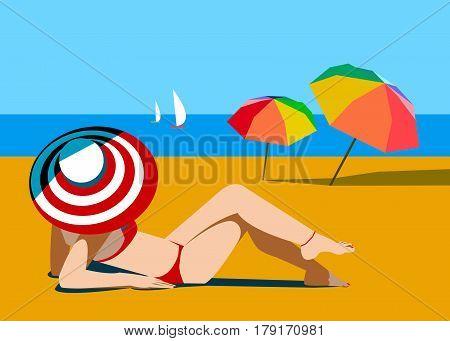 beach summer sea people sun bikini sand