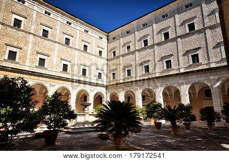 Benedictine Montecassino Abbey, Cassino, Italy, destroyed by bombing in second World War and rebuilt