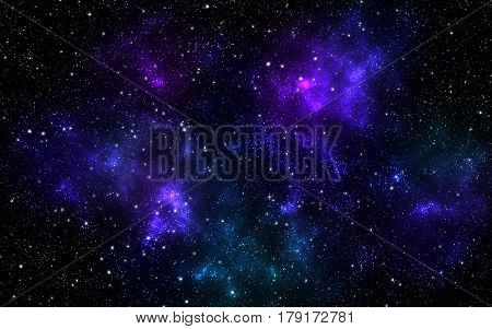 Universe filled with stars nebula and galaxy