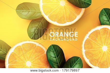 Orange And Leaves
