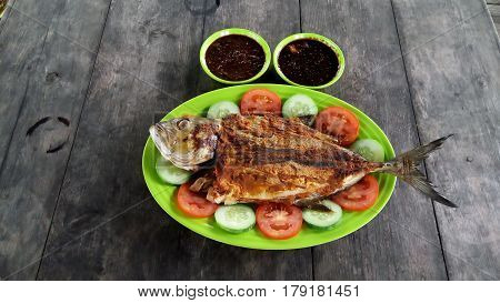This time the lunch menu is the grilled fish