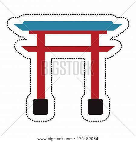 gate structure japanese image vector illustration eps 10
