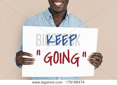 Never Give Up Keep Going Cheer Up Quote Word