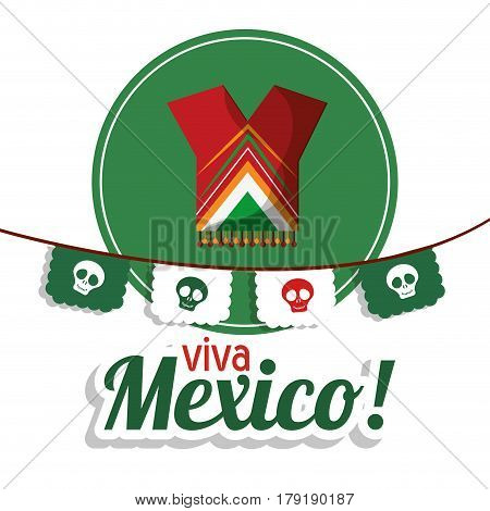viva mexico clothes festival poster vector illustration eps 10
