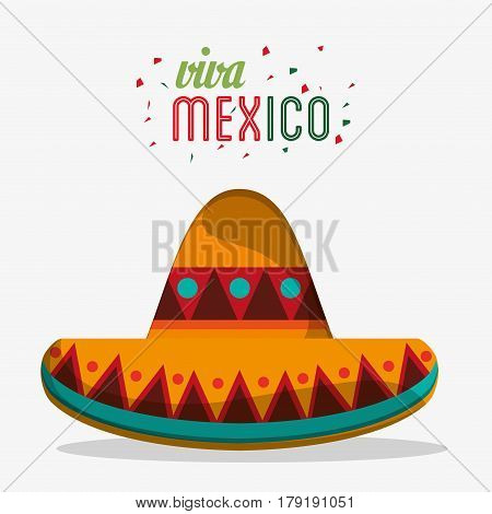 viva mexico traditional hat party vector illustration eps 10