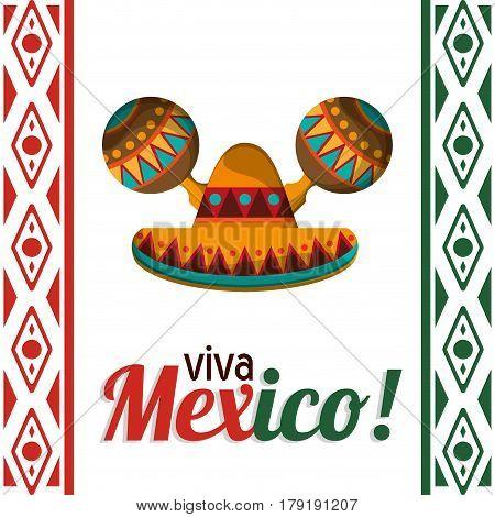 viva mexico celebration heritage card vector illustration eps 10