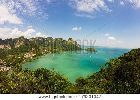 Aerial view to Railay beach at Krabi province Thailand
