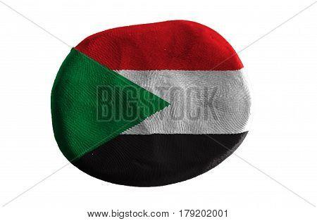Flag of the Sudan ,Sudan  flag on clay