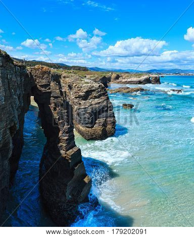 Natural Arches On Beach.