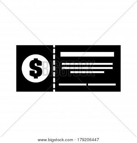 bank check isolated icon vector illustration design