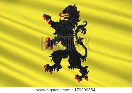 Flag of Nord is a department in Hauts-de-France is a Region in the far north of France. 3d illustration