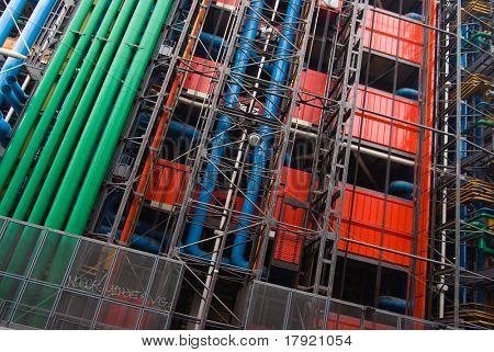 Fa?ade of the Centre Pompidou in Paris
