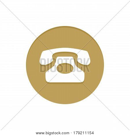Gold Vector Icon Telephone. Golden web icons collection item. Icon symbo vector illustration