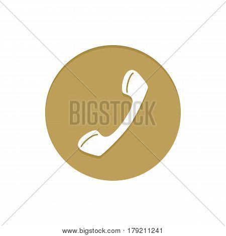 Gold Vector Icon Phone. Golden web icons collection item. Icon symbo vector illustration