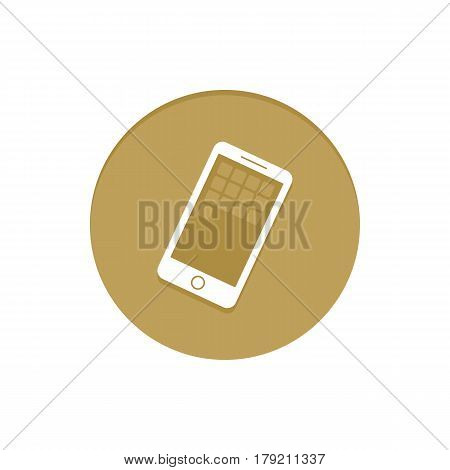 Gold Vector Icon Smartphone. Golden web icons collection item. Icon symbo vector illustration