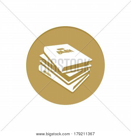 Gold Vector Icon Books. Golden web icons collection item. Icon symbo vector illustration